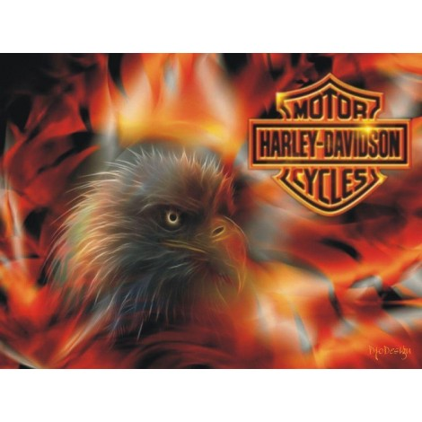 Harley Eagle Diamond Painting Kit